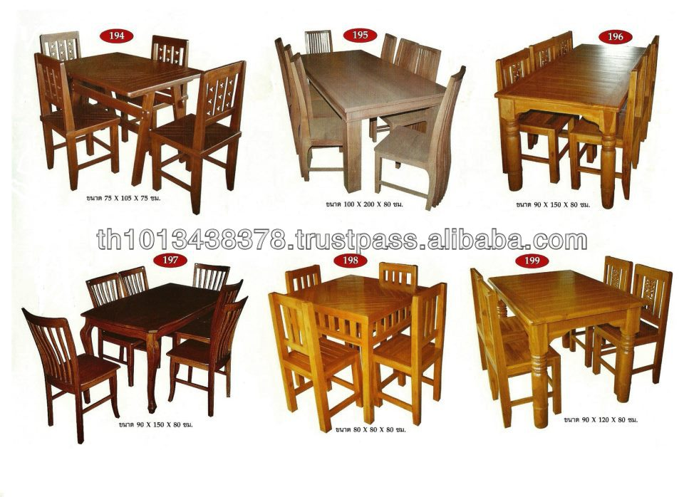 Good Teak Wooden Dining Room Set Table Chair From Thailand