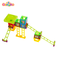 65 pcs children toys new 2017 style Fight inserted blocks removable magnetic roller coaster roller track ball Educational toys