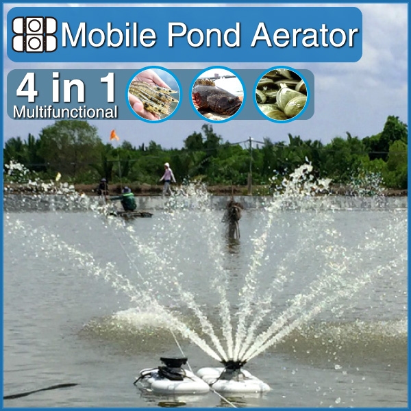 new mobile aquaculture shrimp fish farming pond paddle wheel aerator