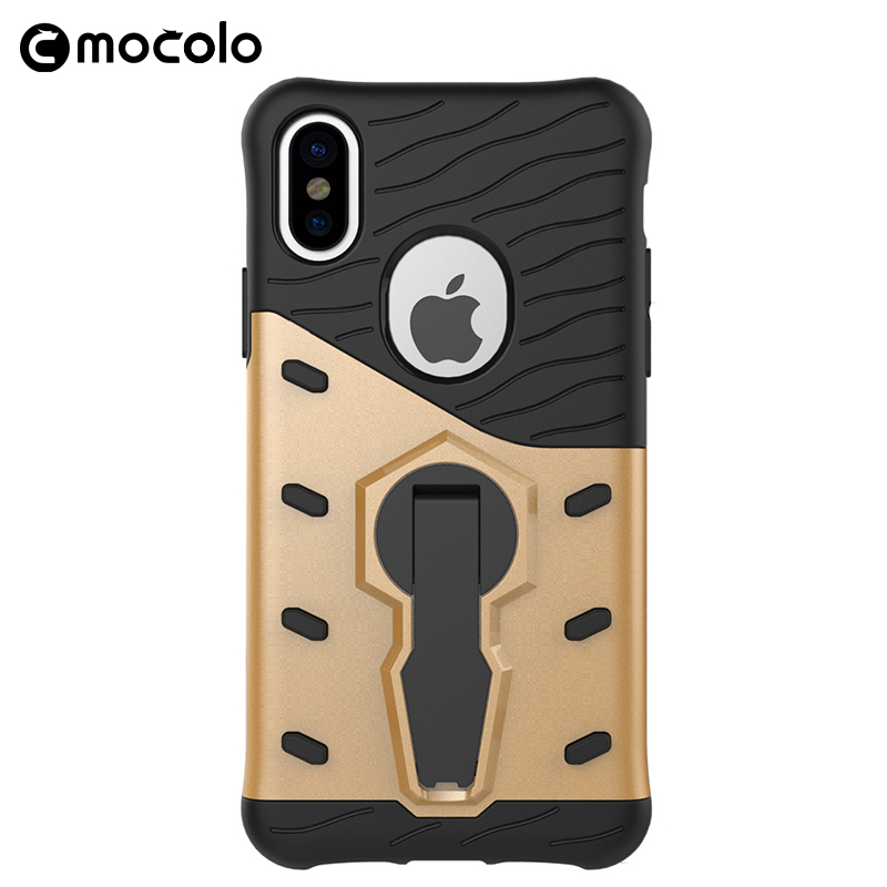 Wholesale Plastic Hard Cell Phone Mobile Case Cover With Holder For Iphone X Smartphone
