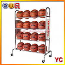 16 Ball Wide floor standing metal Basketball Rack