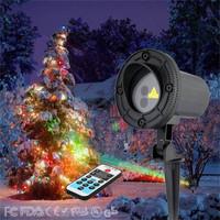 Outdoor Garden Snowflake Laser Light Show Projector