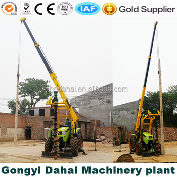 cheap earth digger Concrete Pole Screw hole drilling machine