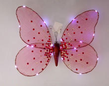 nightlight color button battery LED decoration light butterfly wing for shop party decoration holiday handicraft
