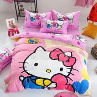 Home Use Beautiful Polyester Cheap Bedsheet Baby Bedding Set 3D