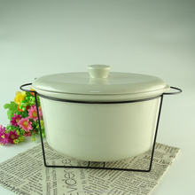 Cheap STOCK wholesale oblong ceramic soup tureen with lid and rack