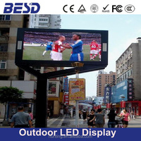 BESD waterproof high resolution /hot sale /new SMD P10 outdoor led display with video function use for advertising shop mall