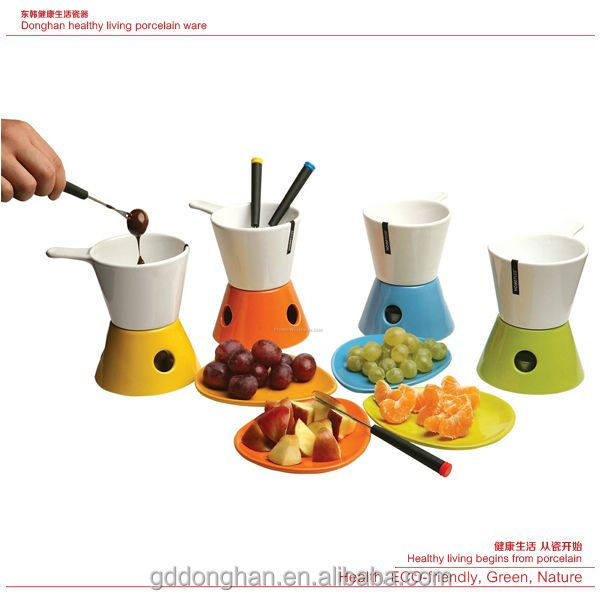 Cheese Tools Type chinese ceramic choose and chocolate Fondue Sets with tray