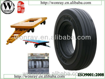 4.00-8 natural solid rubber bicycle tire, solid rubber truck tire from shandong wonray