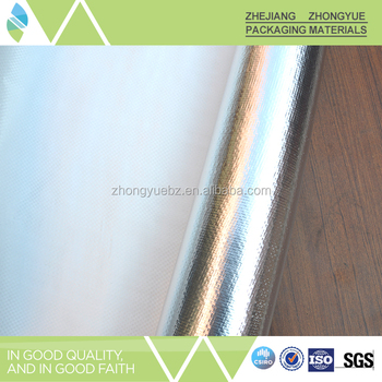 Single sides Woven fabric coated aluminum foil for Insulation