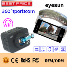 Waterproof WIFI 1080P 360 degree sport camera with Super wild angle Lens