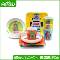 High quality plastic melamine children dinner set with excellent price