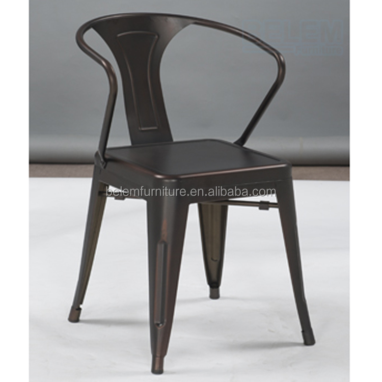 Classic Vintage Metal stackable Dining Chair industrial style BL-5101