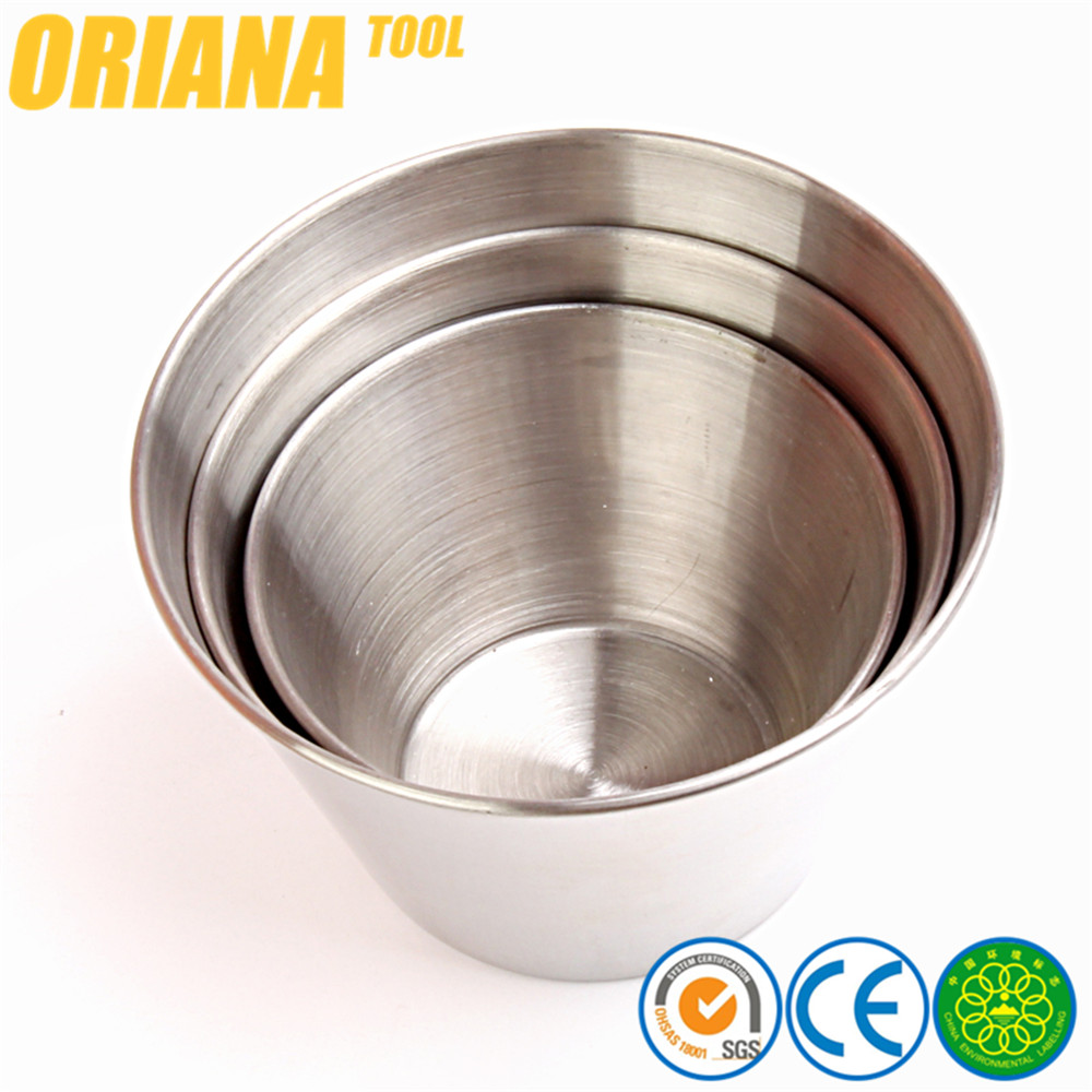 Stainless Steel 304 Sauce Pots Cups 4oz 6oz 8oz Ramekins Condiment Stainless Steel Serving Bowls