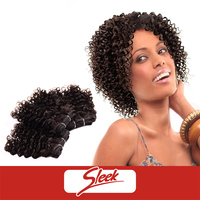 Sleek Wholesale Short All in One 3 piece/pack Afro Kinky Curly Indian Human Virgin Hair for Black Women