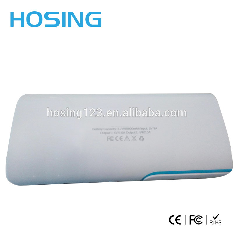 Best quality Wholesale 2 USB port 8000mAh power bank for all smart mobile Attached folding LED light