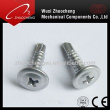 zinc plated wafer head self drilling screw