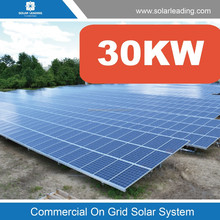 Solar incorporate network power station 30KW for solar electricity generation directly with photovoltaics module