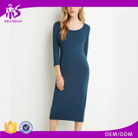 2016 shandao new arrival plain dyed cotton summer fashion long sleeve dresses online shopping