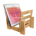 Double - use vinyl records storage stand on table with screw wall mount display