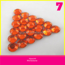 New Design Round Hyacinh Loose Rhinestones Ss10 Hotfix DMC Crystal Stones For Clothing