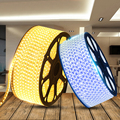 Colorful 220V household decoration led flexible strip 3528 smd waterproof rgb led strip