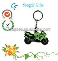 Colorful custom LOGO factory OEM soft pvc keychain with metal key ring