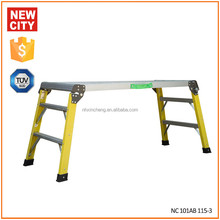low price and high quality insulation Fiberglass Aluminum Platform Work Bench step stool ladder chair