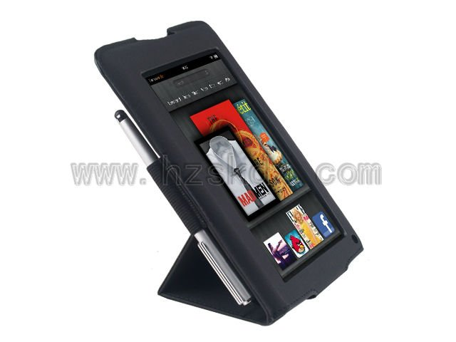 "SiKai Leather Folio Stand Case Cover for Amazon Kindle Fire 7"" Tablet"