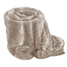 faux fur throw mink fleece blanket