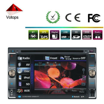 vt-6205 double din touch screen car dvd player