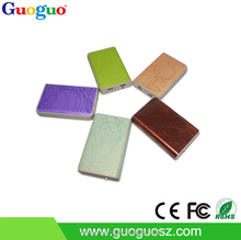 Chinese phones spares PU leather power bank slim power bank high capacity 13000 mah