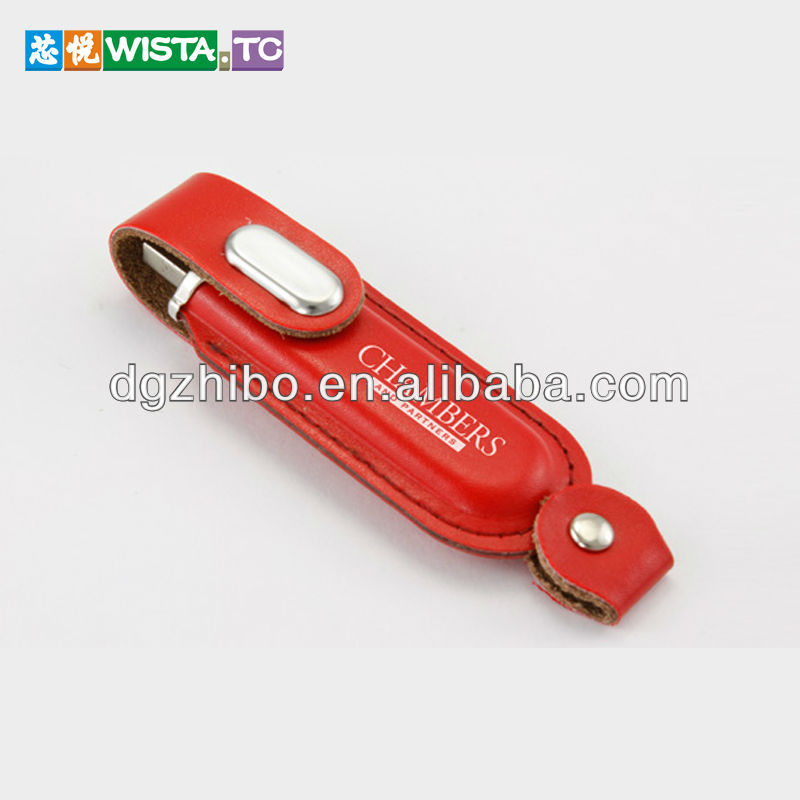 2013 coporate business gift leather usb flash drive with free logo
