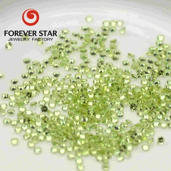 Factory Price Wholesale Large Stock Green Color Round Cut 2mm Natural Peridot Stone Price China Peridot
