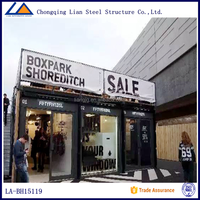 Modern Shopping Store Prefab Modular Container House for Commercial Exhibition