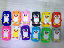 Cute Penguin Silicone Soft Phone Case Cover Skin for Blackberry Curve 9220 9320