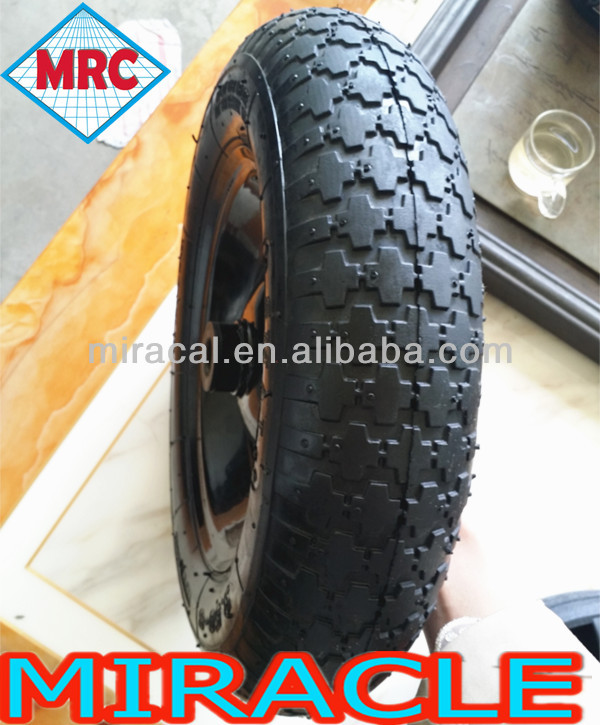 China Fair Price Pneumatic Rubber Wheel 16x4.80/4.00-8