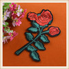 High quality custom flower embroidered patches/embroidery appliques for garment jeans hot sale