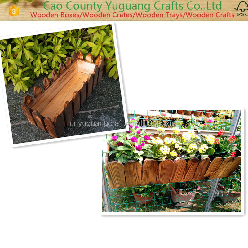 201 6Hot New Products Antique Wood Pot Plant Tray