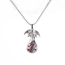 Silver Angel Wing Round Ball Hollow Cage Pendant For DIY Harmony Pregnancy Necklace
