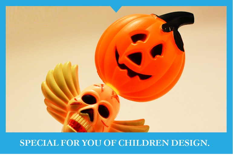 Happy halloween toy flash ghost pumpkin magic wand kids party supplies for sale