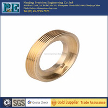 brass cnc machining components, precision threaded connector,turning service with good quality