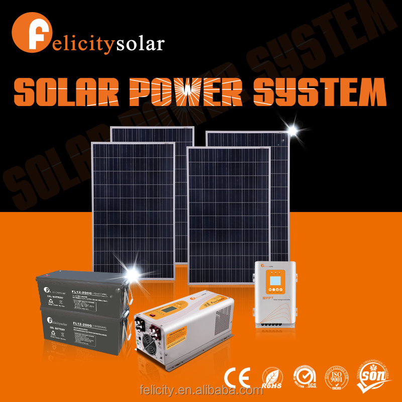 Superb quality solar panel complete system for home / house, OEM available