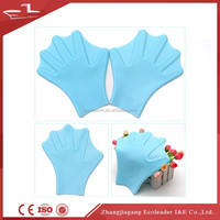 Silicone webbed swimming diving equipment silicone waterproof swimming gloves