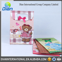 Wholesale Baby Girl Bear XS Gift Paper Bag