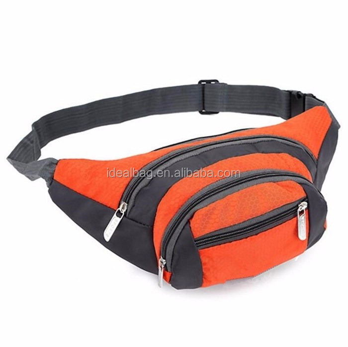 Custom Hot sale nylon running sport waist hip bag fashion leisure pouch bag wholesale