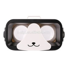 2017 trending products super best 3D VR box panda virtual reality headset 3d movie games glasses,magnetic cardboard
