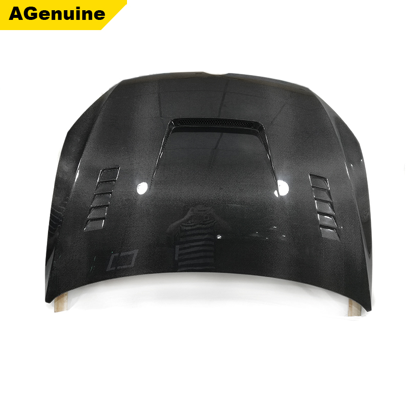 AGenuine UV polished real carbon fiber engine hood with vent car front bonnet for Volkswagen VW Golf 7 MK7 <strong>R</strong> GTI