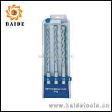 3pcs SDS-Plus Hammer Drill Bits Set in plastic box