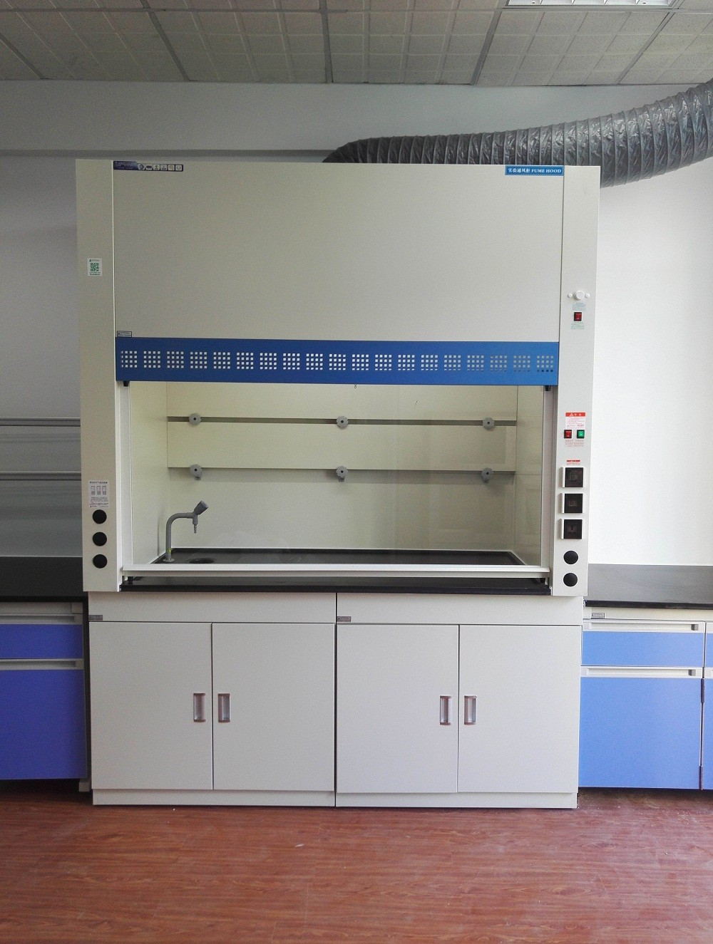BH01-006- 2016 the new laboratory fume hood w/ water for inspection and testing center